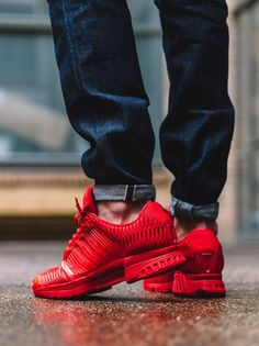 adidas climacool red and black