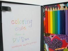 Púzdro na pastelky z DVD obalu