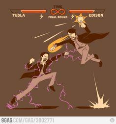 Edison v. Tesla.  I have to say I'm a Tesla fan, myself.