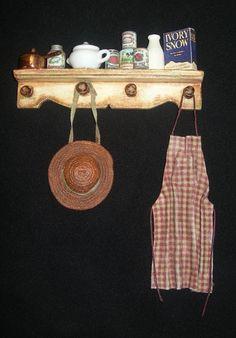 Miniature Shabby Chic Shelf by Diane Costanza Miniatures