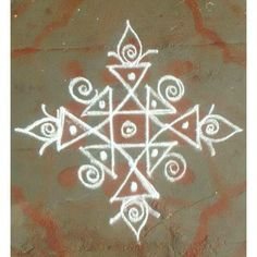 Kolam Rangoli Designs Latest, Simple Rangoli Designs Images, Rangoli Designs Flower, Rangoli Border Designs, Rangoli Designs Diwali, Rangoli Designs With Dots, Kolam Rangoli, Flower Rangoli, Beautiful Rangoli Designs