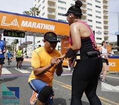 Engagement ideas: Ask after finishing 26.2 miles at the Skechers Performance Los Angeles Marathon on Valentine's Day!