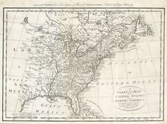 """A Correct Map of the United States of North America Including the British and Spanish Territories carefully laid down agreeable to the Treaty of 1784. Thomas Bowen. Published London. Copper plate engraving, 1787-90. Image size 12 3/8 x 17 5/8"""" (314 x 447 mm). Good condition, save small marginal repairs.  Framed with acid-free black mat, antique top mat, brushed gold frame, and UV Plexiglas. Framed $2,220.00"""