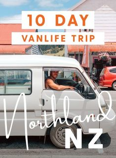 10 day vanlife trip through Northland, New Zealand Fish And Chip Shop, Beach Buggy, Point Break, Bus Life, Holiday Park, Pinterest Pin, Campervan, Day Trips, New Zealand
