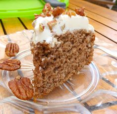 Pecan and Pineapple Spelt Cake