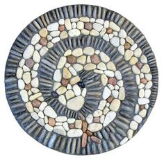 Garden pebble mosaics and pathways by Kathleen Doody Design Mosaic Rocks, Mosaic Stepping Stones, Pebble Mosaic, Pebble Art, Mosaic Art, Mosaic Glass, Mosaics, Stained Glass, Mosaic Crafts