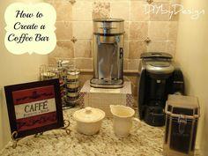 Kitchen coffee bar