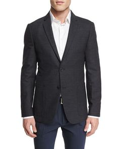 Tobius+Newlyn+Cashmere-Blend+Sport+Coat,+Charcoal+by+Theory+at+Neiman+Marcus.