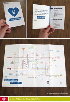 U-Bahn Plan Hochzeitseinladung  http://einstueckvomglueck.com