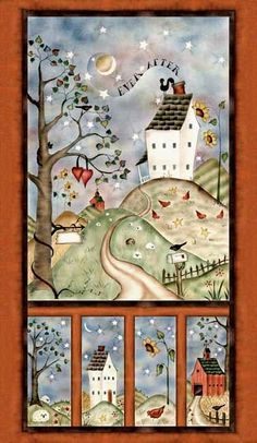 Easy Panel Quilt Kit Happily Ever After Wedding Wall Quilt Primitive | auntiechrisquiltfabric - Craft Supplies on ArtFir