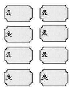 printable pirate food labels - Google Search