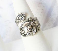 Spoon Ring - The ORIGINAL Silver Bee SPOON RING  - Jewelry by BirdzNbeez - Wedding Birthday Bridesmaids Gift. $24.00, via Etsy.