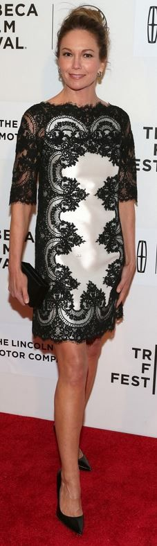 Diane Lane wearing Marchesa at Tribeca Film Festival in New York on April 20, 2014?
