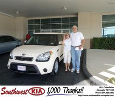 #HappyAnniversary to Fidel Parra on your 2012 #Kia #Soul from Constatine Boury at Southwest Kia Mesquite!