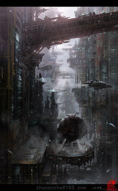 Space Base by zhaoenzhe.deviantart.com on @deviantART