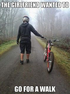 Mountain biking. My Cannondale is my babe.
