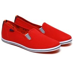 Portovelo classics red ($27) ❤ liked on Polyvore featuring shoes, red slip on shoes, lightweight shoes, nautical shoes, light weight shoes and rubber shoes