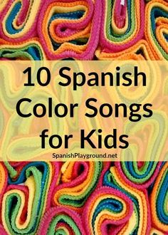 color songs are fun to sing and teach kids lots of common vocabulary. 10 songs to sing with little bilingual learners.Spanish color songs are fun to sing and teach kids lots of common vocabulary. 10 songs to sing with little bilingual learners. Spanish Lessons For Kids, Preschool Spanish, Spanish Basics, Elementary Spanish, Spanish Activities, Preschool Music, Esl Lessons, Listening Activities, French Lessons