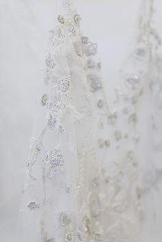 MONIQUE LHUILLIER BRIDAL FALL 2017 / Backstage / Wedding Style Inspiration / LANE