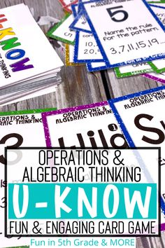 Operations and algebraic thinking is an important 5th grade math skill! This card game activity is a super fun and engaging way to review order of operations! This math game for math centers/stations… More