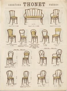 Thonet – Variety of Products – Museum Boppard Fall Arts And Crafts, Arts And Crafts Storage, Arts And Crafts For Adults, Arts And Crafts House, Arts And Crafts Movement, Arts And Crafts Projects, Antique Chairs, Vintage Chairs, Furniture Styles