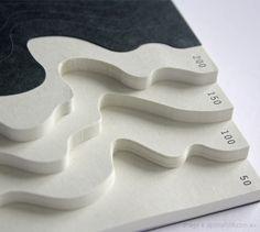 Geografia by Yusuke Hayashi and Yooko Yasunishi: Topographic note paper.
