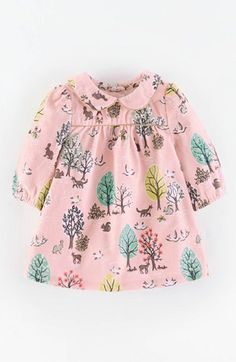 Mini Boden 'Charming' Peter Pan Collar Corduroy Dress (Baby Girls) available at #Nordstrom