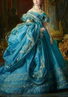 Rhapsody In Blue —-Blue dresses in art (European art Pretty Dresses, Blue Dresses, Beautiful Dresses, Vintage Dresses, Vintage Outfits, Vintage Fashion, Historical Costume, Historical Clothing, Princess Aesthetic