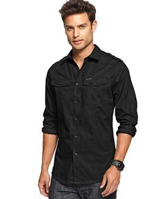 Marc Ecko cut - military shirt
