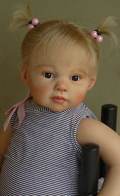 Wesley is a 10 month size baby boy with full limbs reborn from the Chanelle kit by Jannie De Lange. His delightful face shows all the curiosity and playfulness of a real baby his size. A reborn doll is not a toy. Reborn Toddler Dolls, Newborn Baby Dolls, Child Doll, Reborn Babies, Real Looking Baby Dolls, Life Like Baby Dolls, Reborn Dolls Silicone, Realistic Baby Dolls, Lifelike Dolls