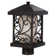 Progress Lighting Cypress Collection 1-Light Forged Bronze Post Lantern-P5411-77 - The Home Depot
