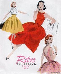 Butterick 4792 SEWING PATTERN Retro/Vintage Dress 50s Swing Rockabilly OOP 14-20
