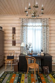 "Gone are the days when the phrase ""log home interiors"" was associated with the modest decoration of the country house, […] Log Home Interiors, Log Homes, Valance Curtains, Home Improvement, Farmhouse, House Design, Rustic, Architecture, Inspiration"