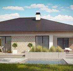 Z301 to wyjątkowy dom z kategorii projekty domów do 160 m2 House Plans South Africa, Bungalow House Design, Backyard Patio Designs, New House Plans, Home Fashion, Gazebo, New Homes, Construction, Outdoor Structures