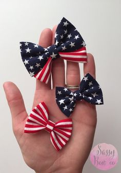 Fourth of July top knot headbands, bow wraps, and sequin sparkle bows. Red white and blue glitter bows and headbands. Sweet 4th of July headbands and bows for all ages from Sassy Bow Co.