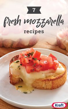 7 Fresh Mozzarella Recipes – Find new ways to delight your taste buds with the. Appetizers For Party, Appetizer Recipes, Snack Recipes, Cooking Recipes, Appetizer Ideas, Bread Recipes, Fresco, Tapas, Cheese Dishes