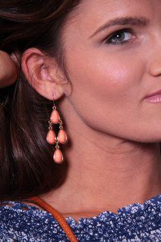 Cascade Earrings - Orange