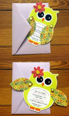 Items similar to Owl Invitations - Birthday - Baby Shower - Personalized and Unique - Completely Customizable! on Etsy - First Birthday Girl Owl Themed Parties, Owl Parties, Owl Birthday Parties, Birthday Ideas, Birthday Banners, Invitation Fete, Owl Invitations, Invitation Ideas, Shower Invitations