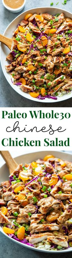 This Chinese Chicken Salad is a crunchy salad dream alongside tons of sweetness together with savory flavor. The almond butter sesame dressing is sweetened alongside dates, making this salad paleo together with compliant… Read more. Ground Beef Stroganoff, Paleo Whole 30, Whole 30 Recipes, Zucchini Burger, Paleo Running Momma, Clean Eating, Healthy Eating, Healthy Drinks, Eat This