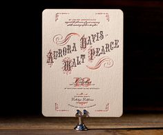 Vintage chic letterpress wedding invitations with an old, classic soul, Victrola is a vision from Ben Whitla.