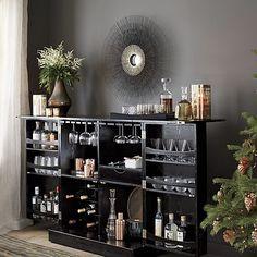 Steamer Bar Cabinet in Bar Cabinets & Bar Carts | Crate and Barrel. Boom. Got it!