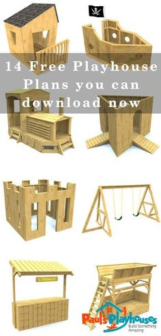 Summertime Project – Build a Playhouse for Your Kids Kids Playhouse Plans, Build A Playhouse, Playhouse Outdoor, Outdoor Play, Kids Garden Playhouse, Pallet Playhouse, Backyard Playground, Backyard For Kids, Backyard Projects