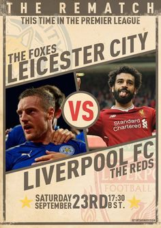 Fc Liverpool, Leicester, Premier League, Posters, Football, Baseball Cards, Red, Soccer, American Football