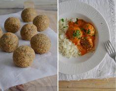 Almôndegas de lentilhas com molho de leite de coco e tomate | Receita