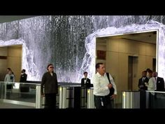 Salesforce Lobby, San Francisco - by Obscura Digital Digital Projection, Projection Mapping, Interactive Walls, Interactive Design, Indoor Water Features, San Francisco, Indoor Waterfall, Tabletop Fountain, New Media Art