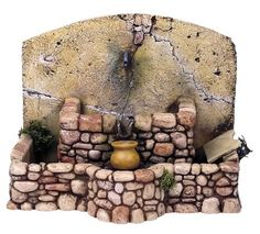 Brunnen in Resi. Christmas Nativity Scene, Tiny World, Miniature Houses, Miniture Things, Fairy Houses, Clay Pots, Dollhouse Miniatures, Diy And Crafts, Creations