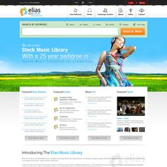 New website design wanted for Elias Music Library