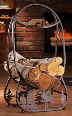 Fireplace Log Holder for the Northwoods Home