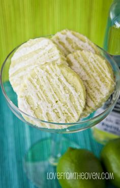 Lime Shortbread Cookies With A Tequila Lime Glaze.  Delish!