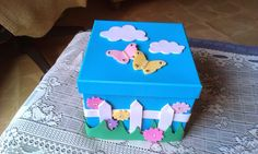 ARTE EN TU DIA: Cajas para shia. 90s Decorations, Exploding Boxes, Decoupage, Balloons, Crafts For Kids, Decorative Boxes, Flower, Craft Box, Diy And Crafts